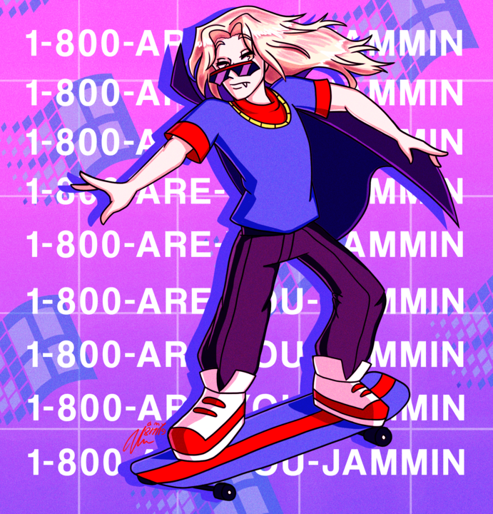 Image 77345 Alucard Artist Bishidayo Captain N Game Castlevania Skateboard Streamer Vinny