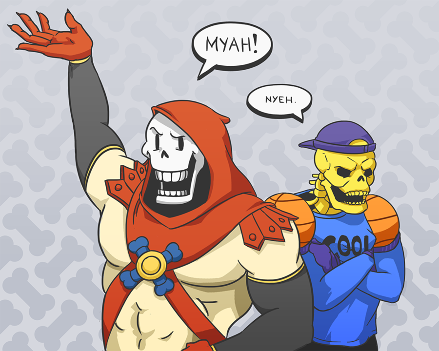 skeletor vs papyrus - 1000×800