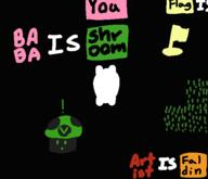 artist:faldin baba game:baba_is_you streamer:vinny vineshroom // 583x501 // 9.6KB