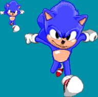 16-bit artist:KamiJoJo mega_drive redesign sega sega_genesis sonic sonic_movie sonic_the_hedgehog streamer:joel // 496x492 // 13.0KB