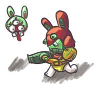 artist:KITSU game:metroid_samus_returns rabbid samus streamer:vinny // 394x356 // 125.9KB