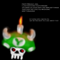 artist:metalsauce happy_birthday mushroom streamer:joel // 999x999 // 519.4KB