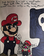 artist:--justmeac-- game:super_mario_land_2 luigi mario speed_luigi streamer:vinny wario // 1579x1994 // 439.6KB
