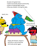 7_years apple_dave artist:lamango banana_chad birthday mspaint ralph_bluetawn streamer:vinny vinesauce // 387x482 // 20.3KB