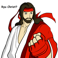 artist:jomaro222 game:street_fighter jesus_christ ryu streamer:joel // 1000x1000 // 251.1KB