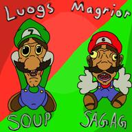 artist:hydeman11 game:Mario_and_Luigi_Superstar_Saga luigi mario streamer:vinny // 500x500 // 201.2KB
