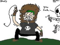 artist:zaggitisback bones castlevania dio game:castlevania headband is_that_a_jojo_reference long_hair skeleton skull_shirt spooky streamer:joel vinesauce whip // 1024x768 // 231.1KB
