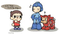 artist:natsurkgk game:super_smash_bros_4 mega_man streamer:vinny super_smash_bros villager // 804x471 // 360.0KB