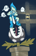 artist:ham boo ghost legend_of_zelda link piranha_plant streamer:vinny // 900x1400 // 607.5KB