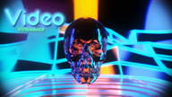 3d artist:nuff3 retro skull streamer:vinny video_vinesauce // 1920x1080 // 2.5MB