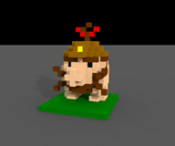 3d artist:captain_punch game:earthbound mr_saturn streamer:vinny voxel // 960x800 // 109.8KB