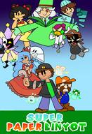 Breadward artist:chirpyclassic dimentio game:super_paper_mario jahn meat pretzel princess_bleach scoot sponge streamer:vinny tippi two_faced vineschnoz vlinny // 1200x1764 // 778.3KB