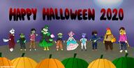 Halloween artist:raspberrylimes celia cookie diva drake egbert game:animal_crossing_new_horizons jacques leonardo scoot streamer:vinny whitney // 2484x1251 // 2.5MB