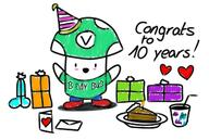 10_years anniversary artist:pierdeer artist:piergaming birthday cartoon doodle party simple streamer:vinny vineshroom // 1299x873 // 218.8KB