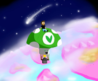 artist:rickrick space streamer:vinny vinesauce vineshroom // 1024x857 // 116.9KB