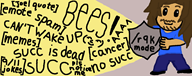 artist:doodlemily bees chat ms_paint stream streamer:joel succ vinesauce // 1250x500 // 122.9KB