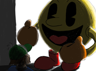 artist:mud game:super_smash_bros_4 pac-man streamer:vinny super_smash_bros // 1366x1024 // 1.1MB