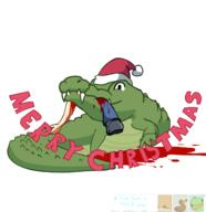 artist:Odyanii christmas crocodile game:android_showcase streamer:vinny // 1500x1552 // 459.5KB
