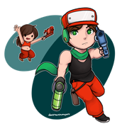 artist:donttouchmyart curly game:cave_story quote streamer:vinny // 722x743 // 279.9KB
