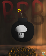 artist:teaowl bomb brb isaac mouse_art streamer:vinny the_binding_of_isaac_rebirth vineshroom // 720x864 // 234.6KB