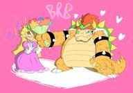 artist:Dunkeyshspittle bowser brb game:super_paper_mario peach princess streamer:vinny // 2400x1681 // 655.6KB
