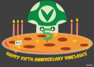 5th_anniversary artist:shaioee pizza vinesauce // 828x589 // 142.6KB