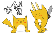 artist:blankfaece blind_pokemon game:pokedraw game:pokemon interpretation pikachu streamer:joel // 1755x1083 // 316.6KB