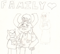 artist:the_blighted_one asgore asriel asriel_dreemurr family game:undertale love streamer:joel toriel undertale_spoilers // 1436x1309 // 938.9KB