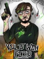 artist:CheesyDraws game:kill_it_with_fire spider streamer:vinny // 900x1200 // 1.4MB