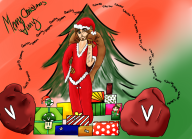 artist:azurehue22 chat christmas demengineerz presents regaulity streamer:vinny // 1169x850 // 1.1MB