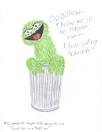 artist:nikki oscar red_vox sesame_street there_she_goes trash // 1685x2175 // 2.7MB