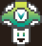 artist:mystical_rahz pixel_art vineshroom // 176x192 // 5.0KB