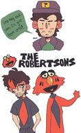 artist:snap elmo emo red_vox streamer:vinny the_robertsons // 1112x1816 // 66.7KB