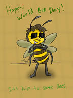 artist:Indy_Film_Productions bees it's_hip streamer:vinny worldbeeday // 1800x2400 // 934.5KB