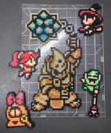 Din Maple artist:CorneliusEdmondII game:the_legend_of_zelda_oracle_of_seasons link onox perler pixel rosa streamer:vinny // 1280x1529 // 3.4MB