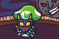 artist:jellonator game:majora's_mask moon mushroom skull_kid vineshroom // 1080x720 // 32.6KB