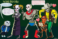 artist:cookubanana bon3z69 bone_brothers game:lego_racers game:undertale papyrus sans skelorita streamer:joel // 1220x836 // 3.9MB