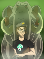 artist:feathers-ruffled elephant game:far_cry_4 stream streamer:vinny vinesauce // 1500x2000 // 1.9MB