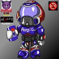 artist:pipdog game:doom pepsi streamer:joel // 1400x1400 // 764.1KB