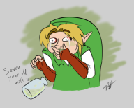 artist:timoteilsd game:ocarina_of_time milk streamer:vinny // 617x504 // 132.9KB