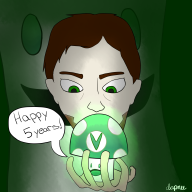 5th_anniversary stream streamer:vinny vinesauce vineshroom // 2400x2400 // 2.5MB