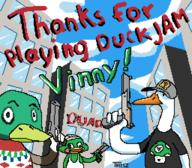 Game:duck_jam artist:thimz drake scoot streamer:vinny // 512x448 // 14.3KB
