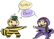 artist:grand0m bee spider streamer:joel streamer:vinny // 937x671 // 174.6KB