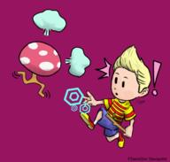 artist:Dem game:mother_3 lucas ramblin_mushroom streamer:vinny // 560x533 // 159.7KB