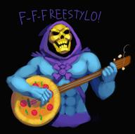 artist:kdd game:Tekken_7 guitar pizza skeletor streamer:joel // 821x813 // 343.9KB