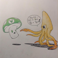 artist:veralsco game:splatoon inkling squid streamer:vinny vineshroom // 831x831 // 44.4KB