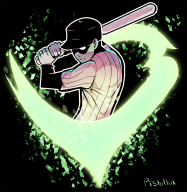 artist:pistollux batter game:off streamer:vinny // 750x768 // 495.2KB