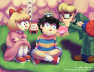 artist:roboticoblitera game:earthbound jeff ness paula streamer:vinny vineshroom // 1700x1300 // 2.0MB