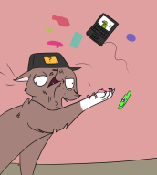 artist:sniffmypussicals cat game:catlateral_damage kazoo kermit streamer:vinny // 900x1000 // 149.8KB