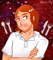 artist:pepperonigal artist:princessofpepperoni social_eating streamer:fred // 2205x2500 // 655.7KB